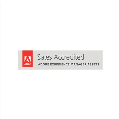 ícone certificação adobe experience manager assets