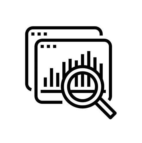 ícone arquitetura de dados