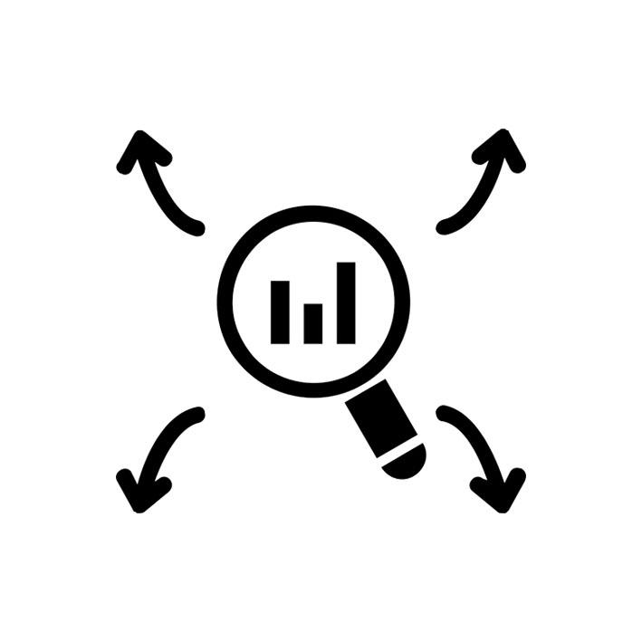 ícone análise de dados