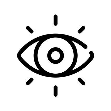 ícone olho de visualização de dados