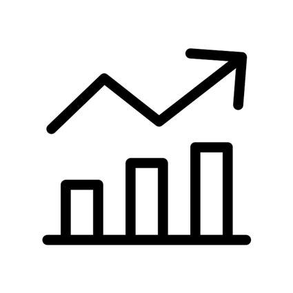ícone gráfico de crescimento de empresas